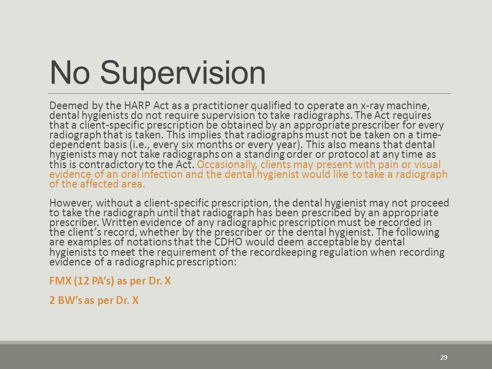 No Supervision