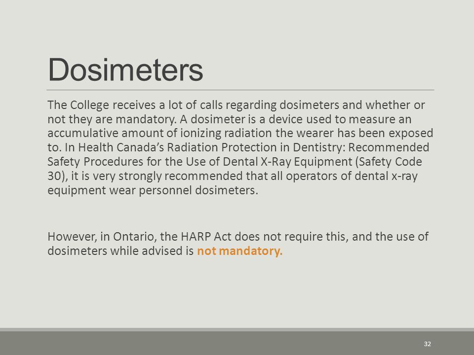 Dosimeters