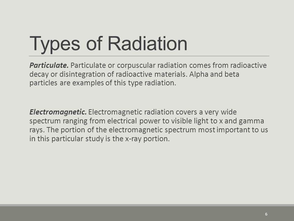 Types of Radiation