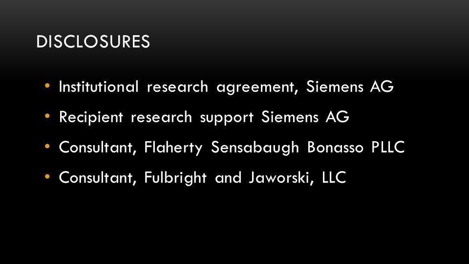 Disclosures Institutional research agreement, Siemens AG