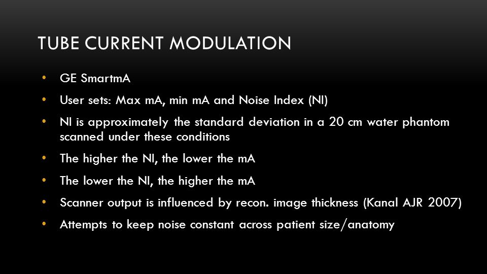 Tube Current Modulation