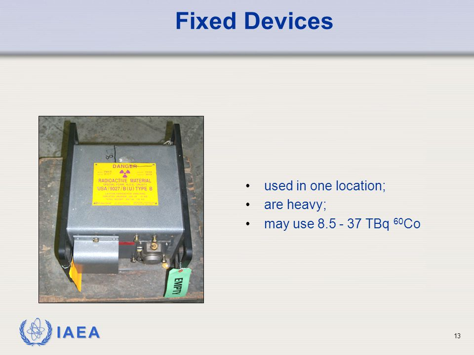 Fixed Devices used in one location; are heavy;