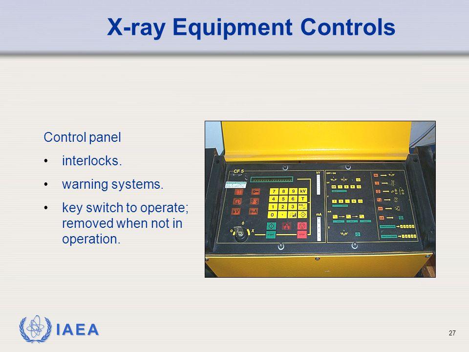X-ray Equipment Controls