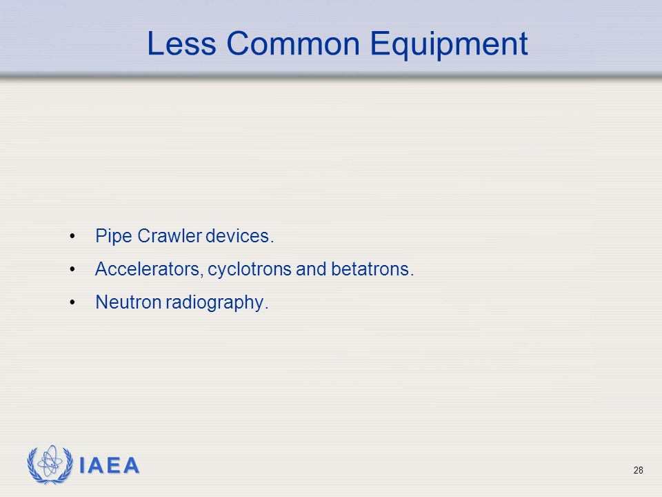 Less Common Equipment Pipe Crawler devices.