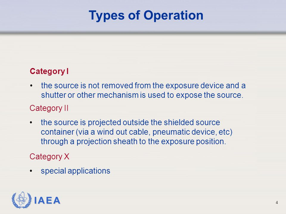 Types of Operation Category I