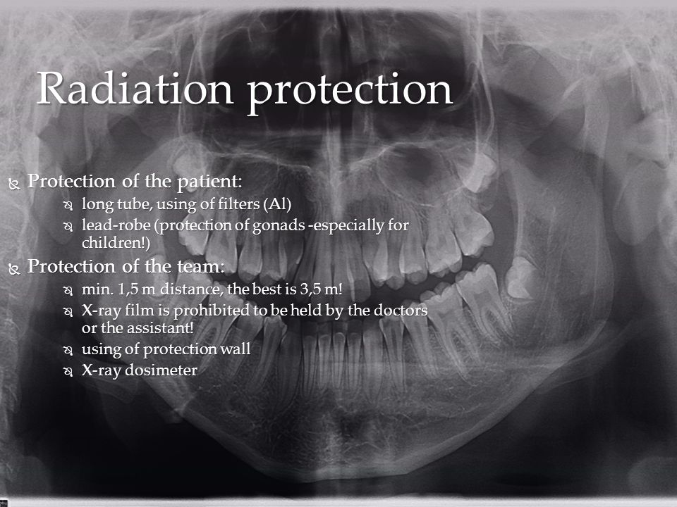 Radiation protection Protection of the patient: