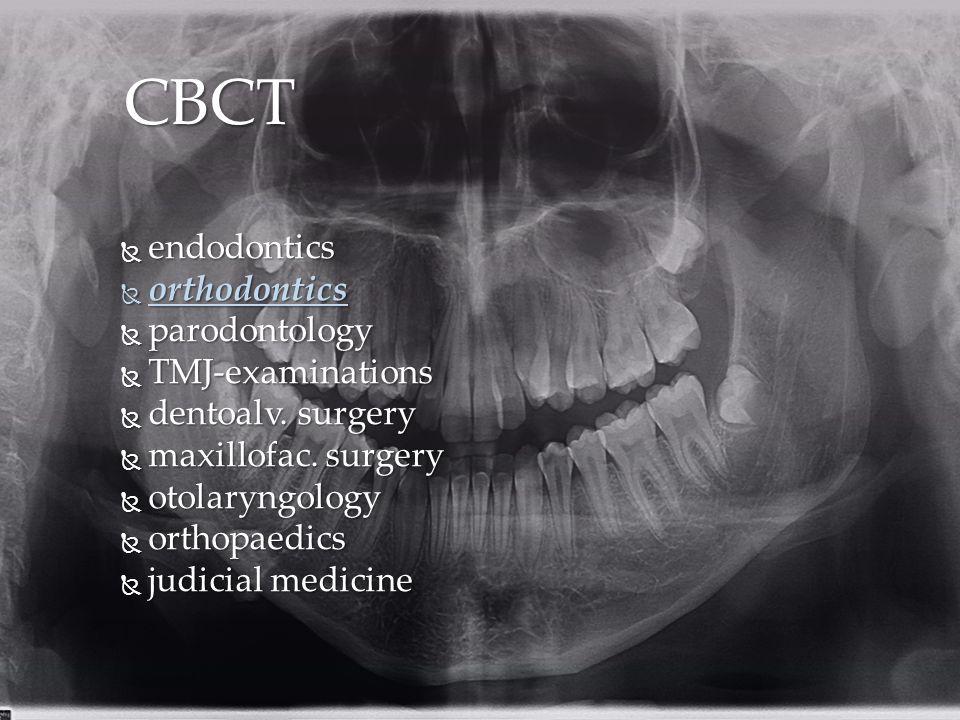 CBCT endodontics orthodontics parodontology TMJ-examinations