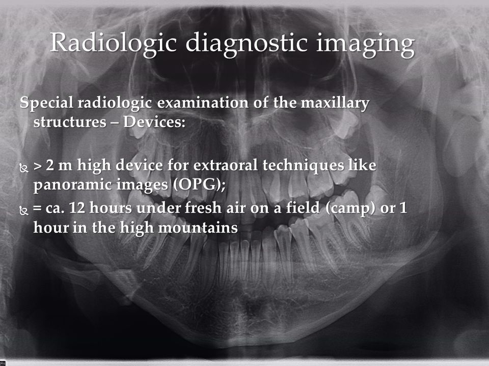 Radiologic diagnostic imaging