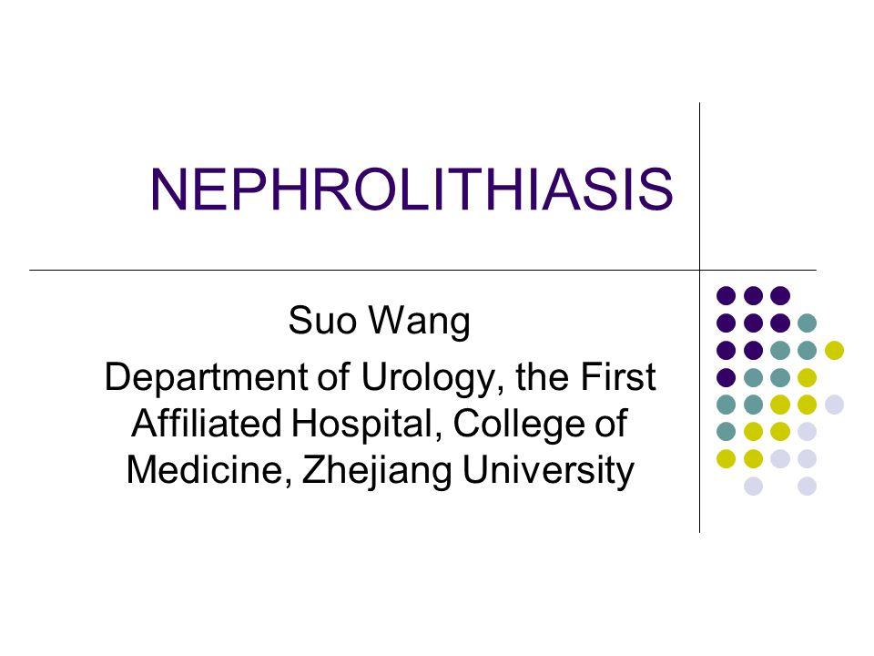NEPHROLITHIASIS Suo Wang