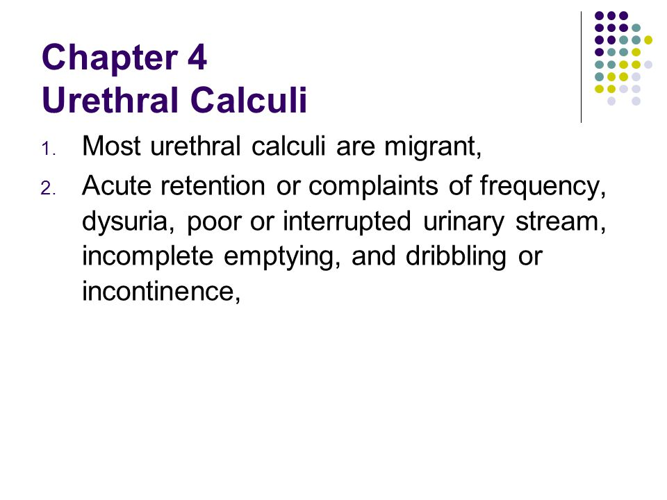 Chapter 4 Urethral Calculi