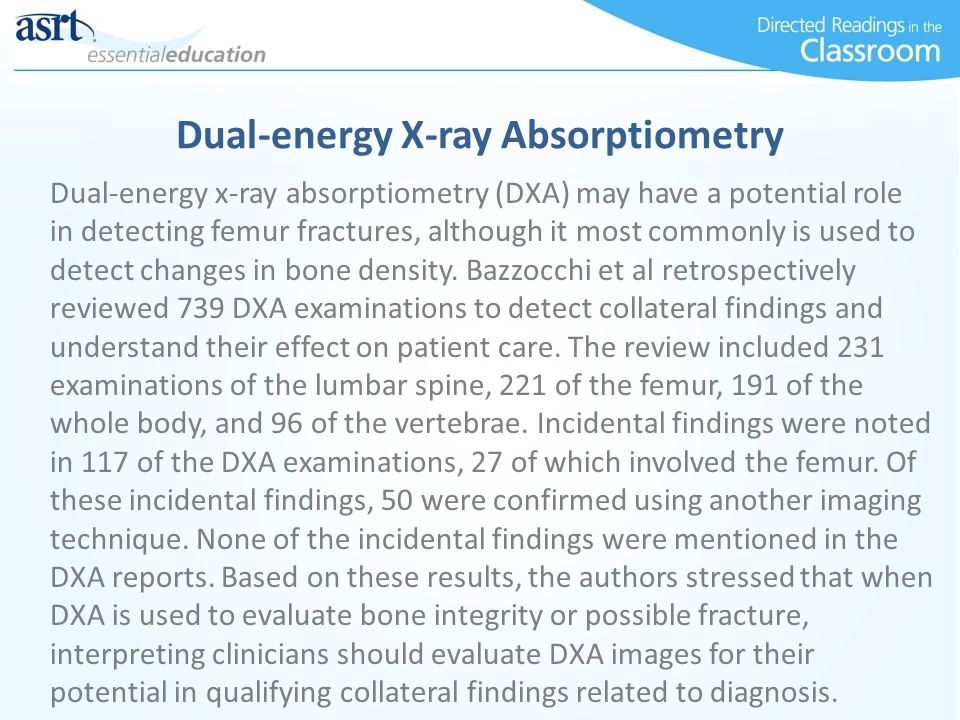 Dual-energy X-ray Absorptiometry