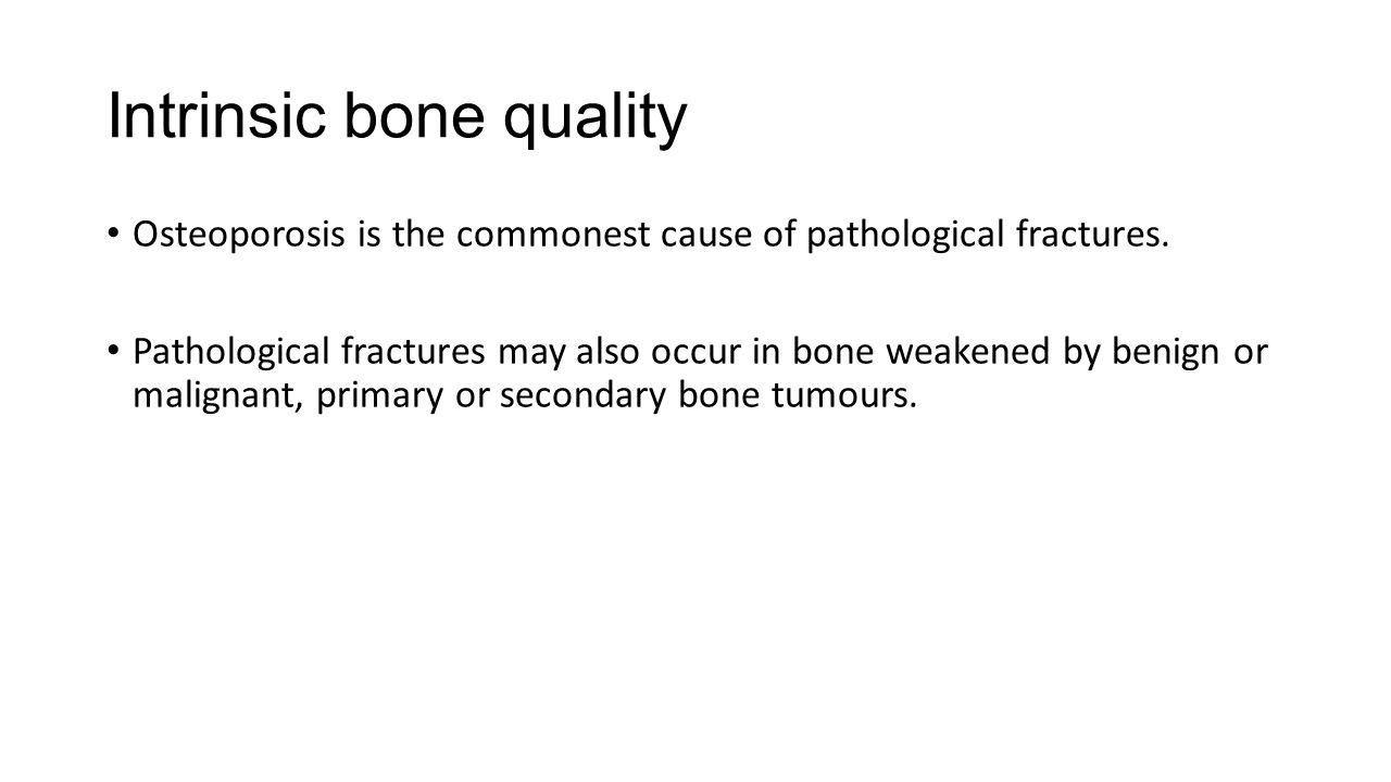 Intrinsic bone quality