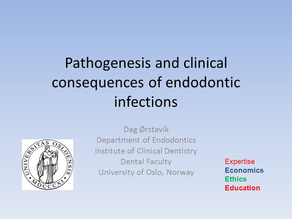 Pathogenesis and clinical consequences of endodontic infections