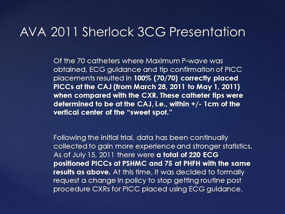 AVA 2011 Sherlock 3CG Presentation