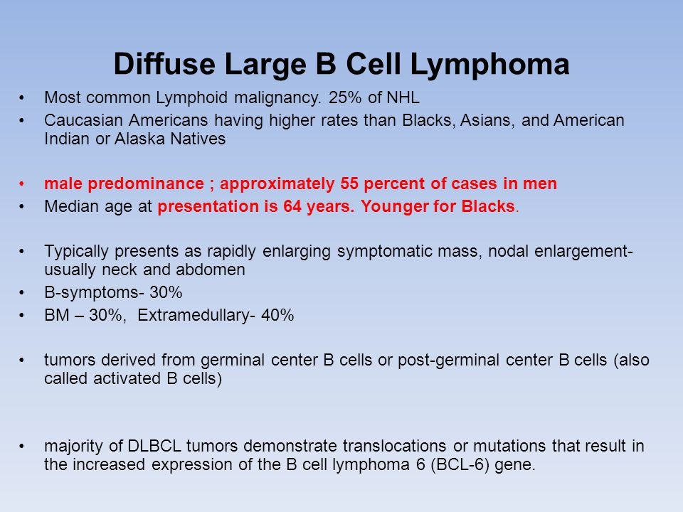 Diffuse Large B Cell Lymphoma