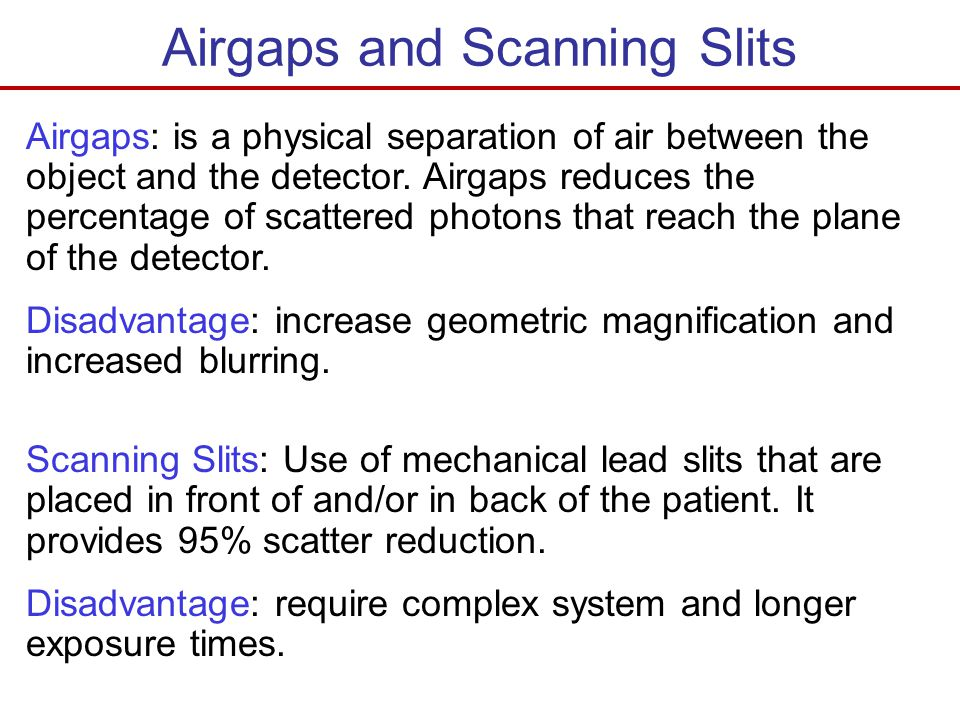 Airgaps and Scanning Slits