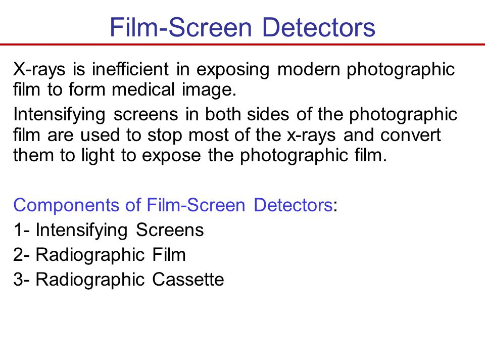 Film-Screen Detectors