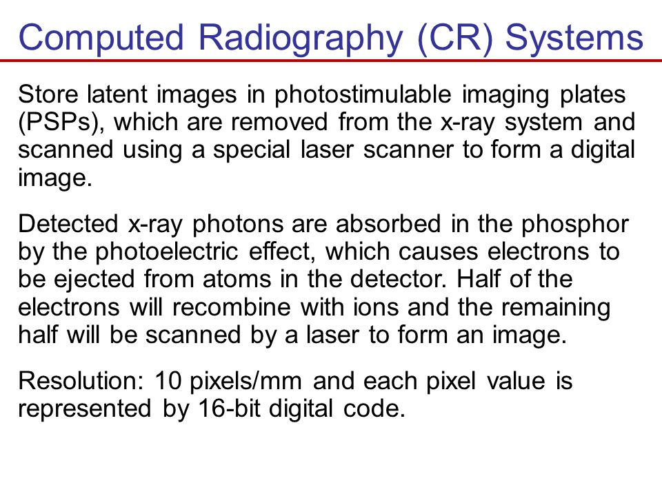 Computed Radiography (CR) Systems