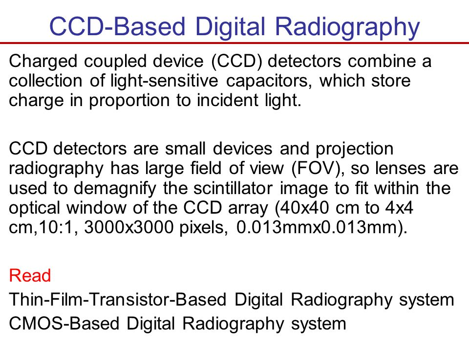 CCD-Based Digital Radiography