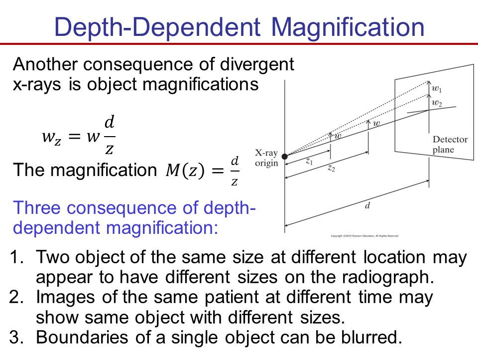 Depth-Dependent Magnification