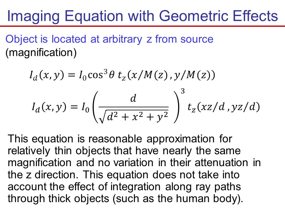 Imaging Equation with Geometric Effects