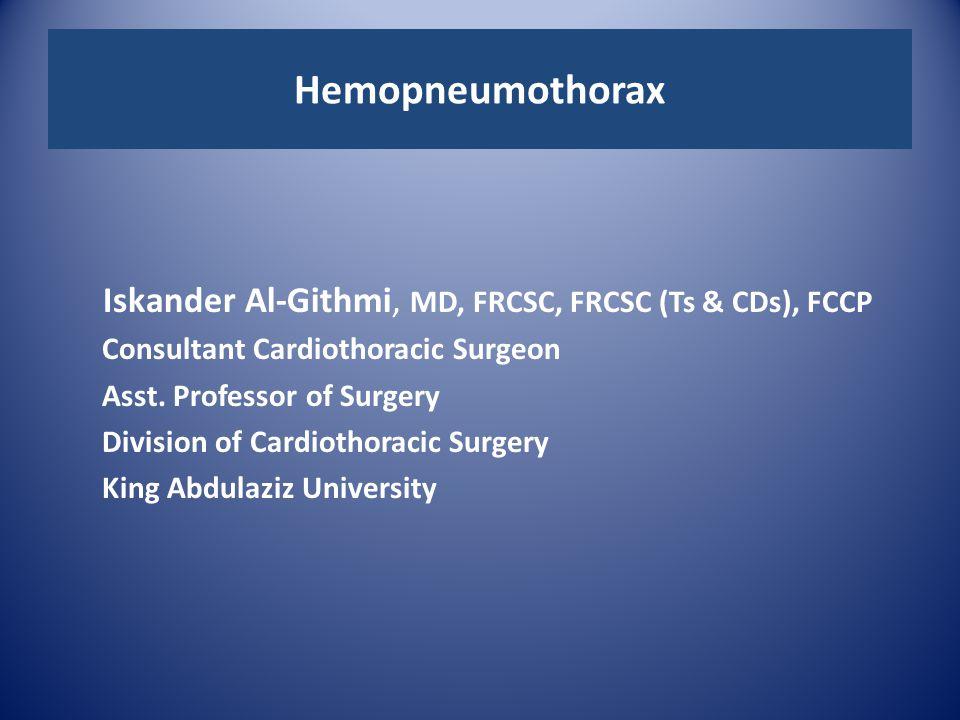 Iskander Al-Githmi, MD, FRCSC, FRCSC (Ts & CDs), FCCP