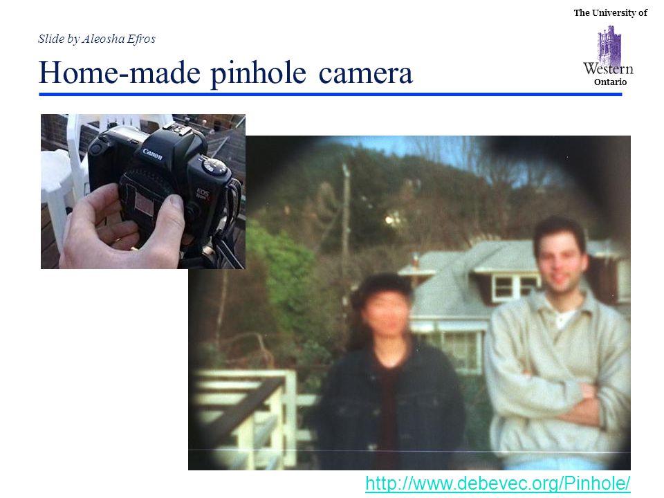 Slide by Aleosha Efros Home-made pinhole camera