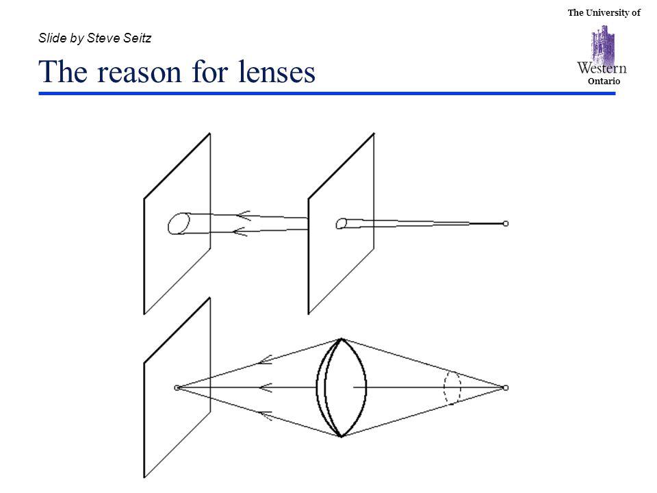 Slide by Steve Seitz The reason for lenses