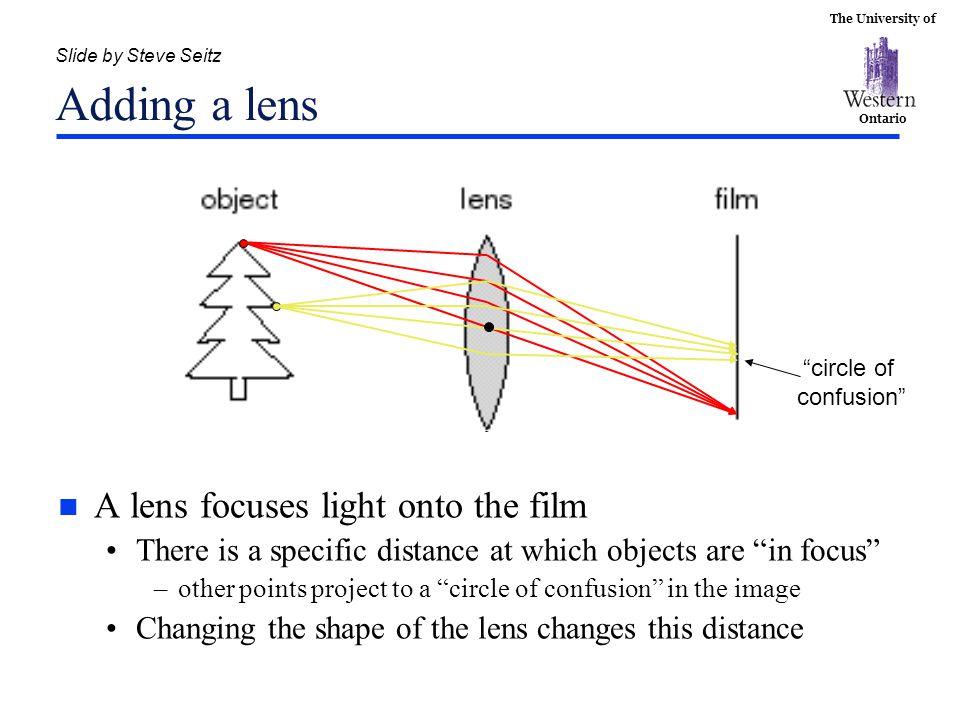 Slide by Steve Seitz Adding a lens