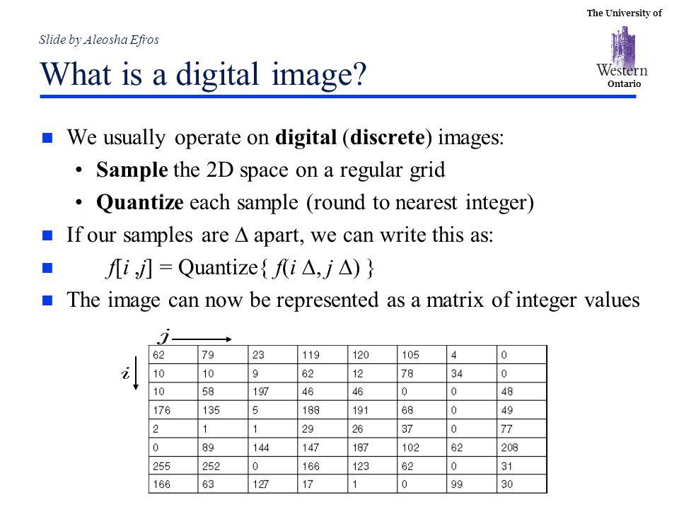 Slide by Aleosha Efros What is a digital image