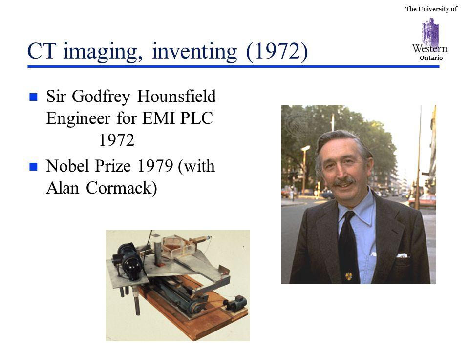 CT imaging, inventing (1972)