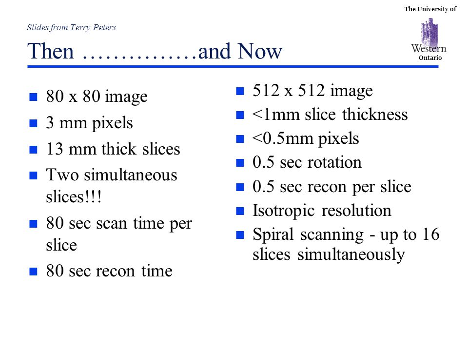 Slides from Terry Peters Then ……………and Now