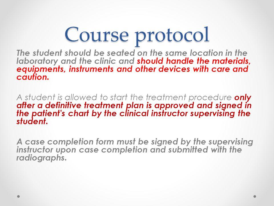 Course protocol