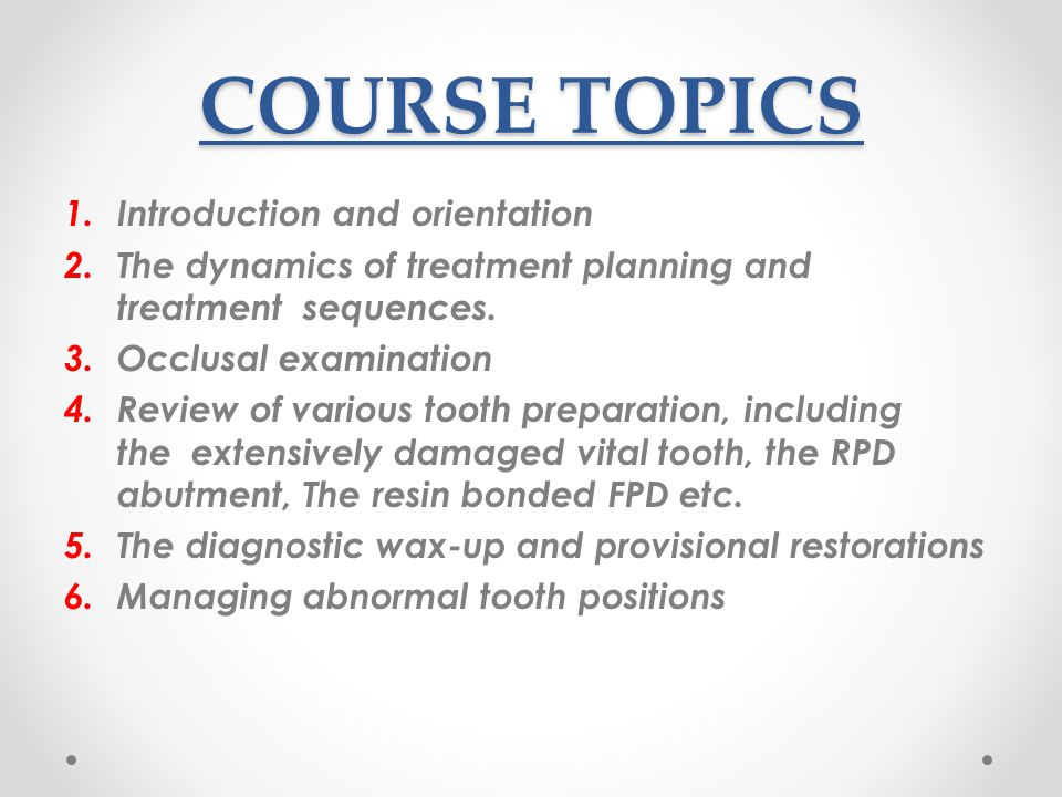 COURSE TOPICS Introduction and orientation