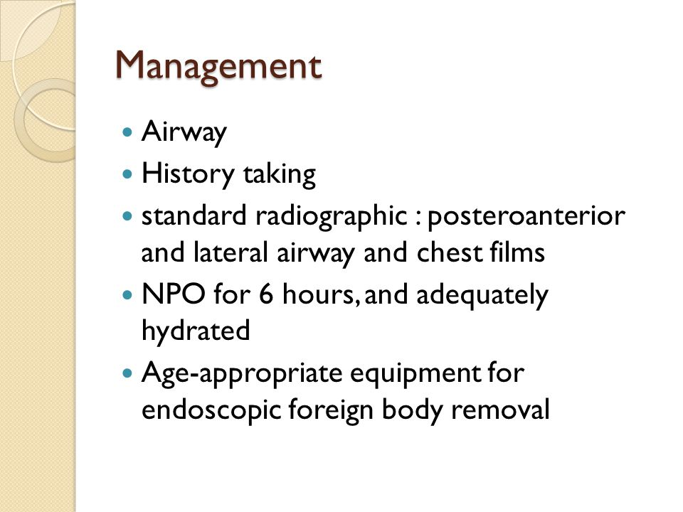 Management Airway History taking
