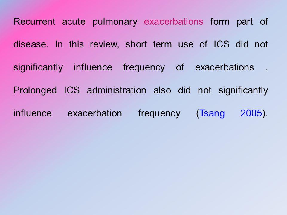 Recurrent acute pulmonary exacerbations form part of disease