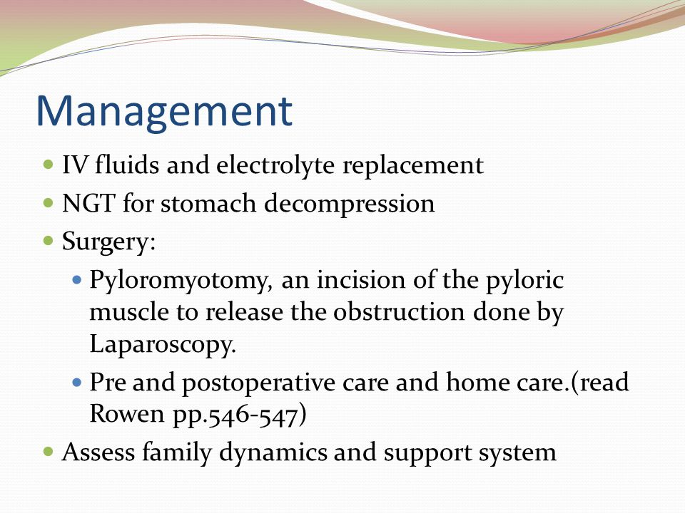 Management IV fluids and electrolyte replacement