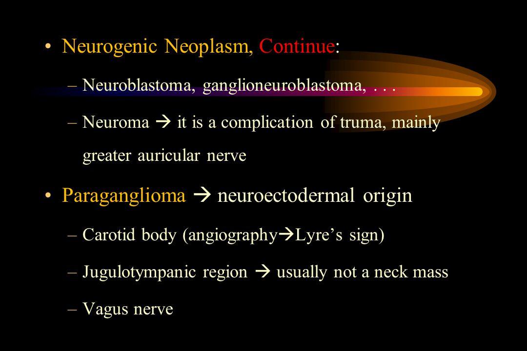 Neurogenic Neoplasm, Continue: