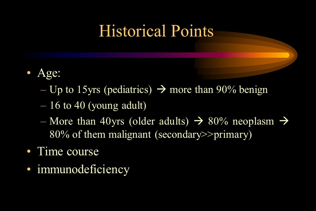 Historical Points Age: Time course immunodeficiency