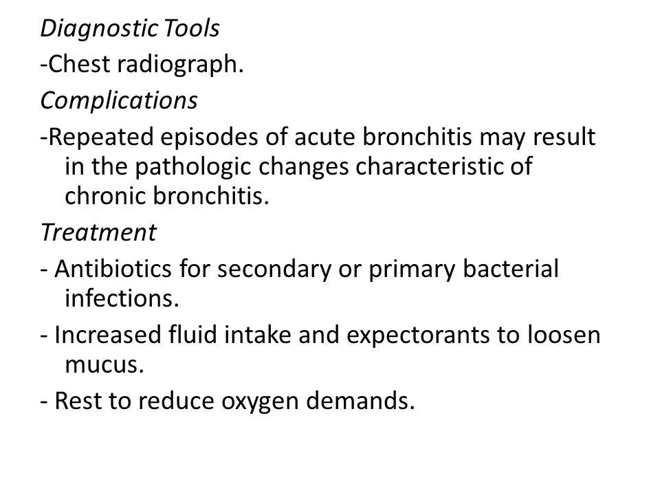Diagnostic Tools -Chest radiograph. Complications.