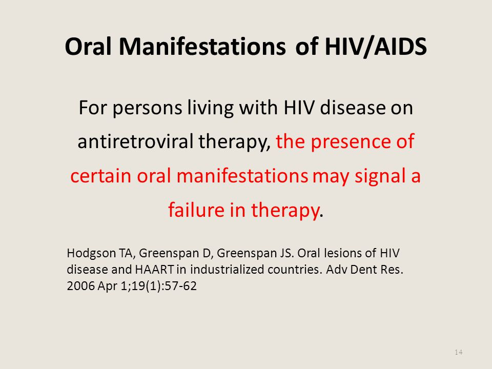 Oral Manifestations of HIV/AIDS
