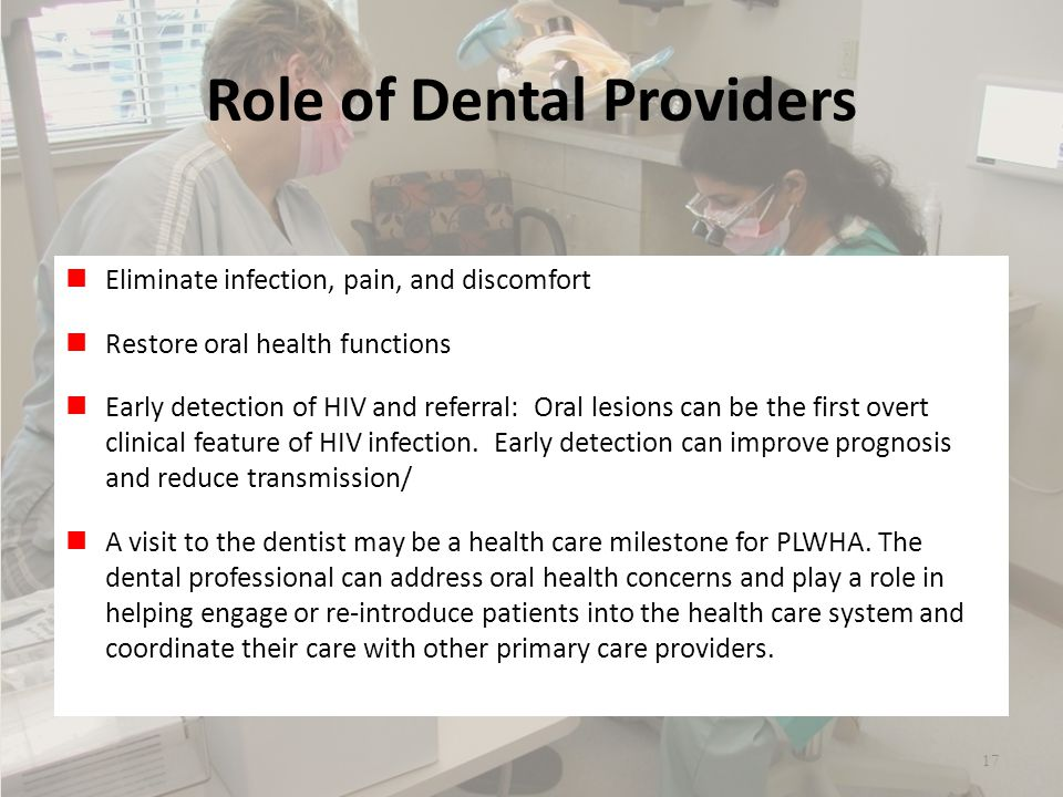 Role of Dental Providers