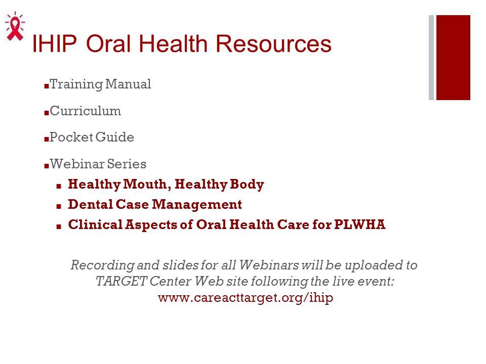 IHIP Oral Health Resources
