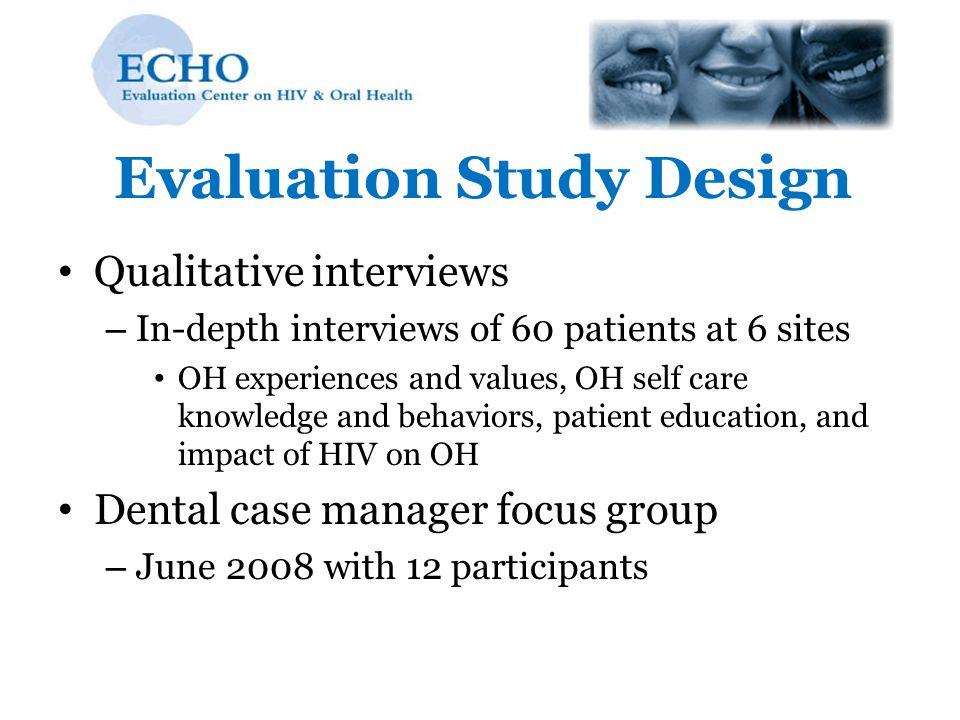 Evaluation Study Design