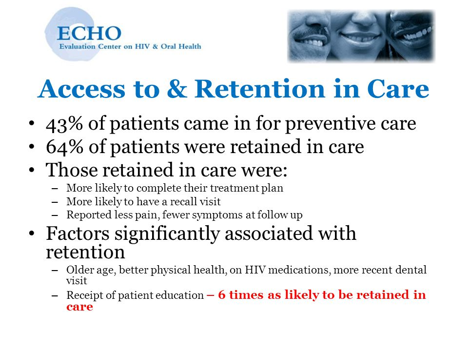 Access to & Retention in Care