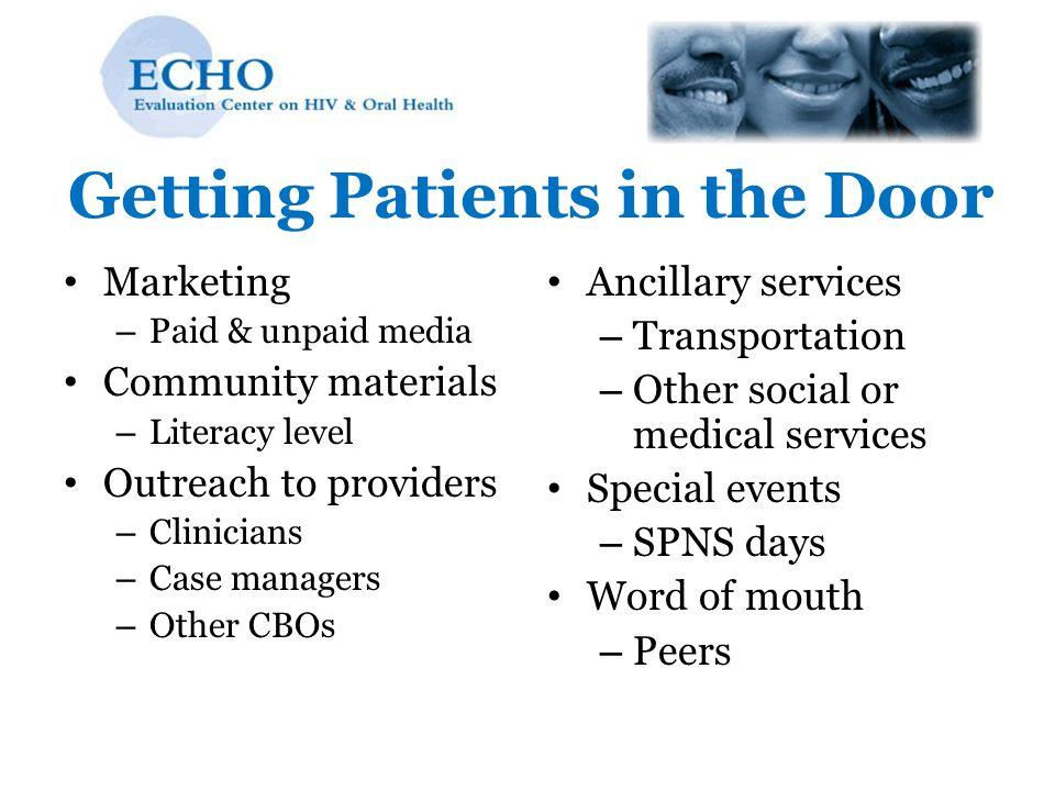 Getting Patients in the Door