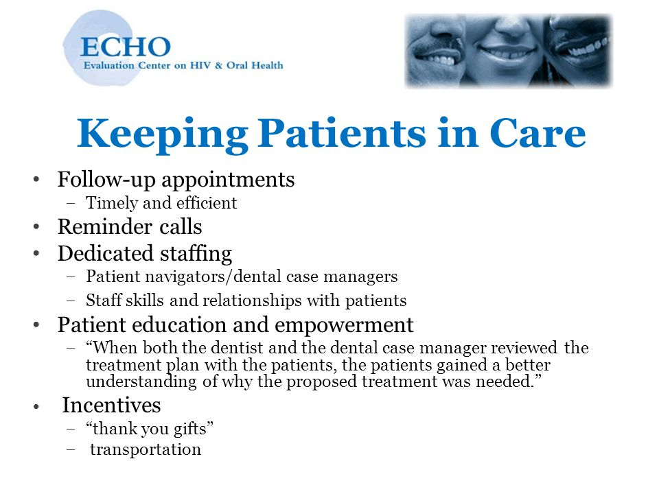 Keeping Patients in Care