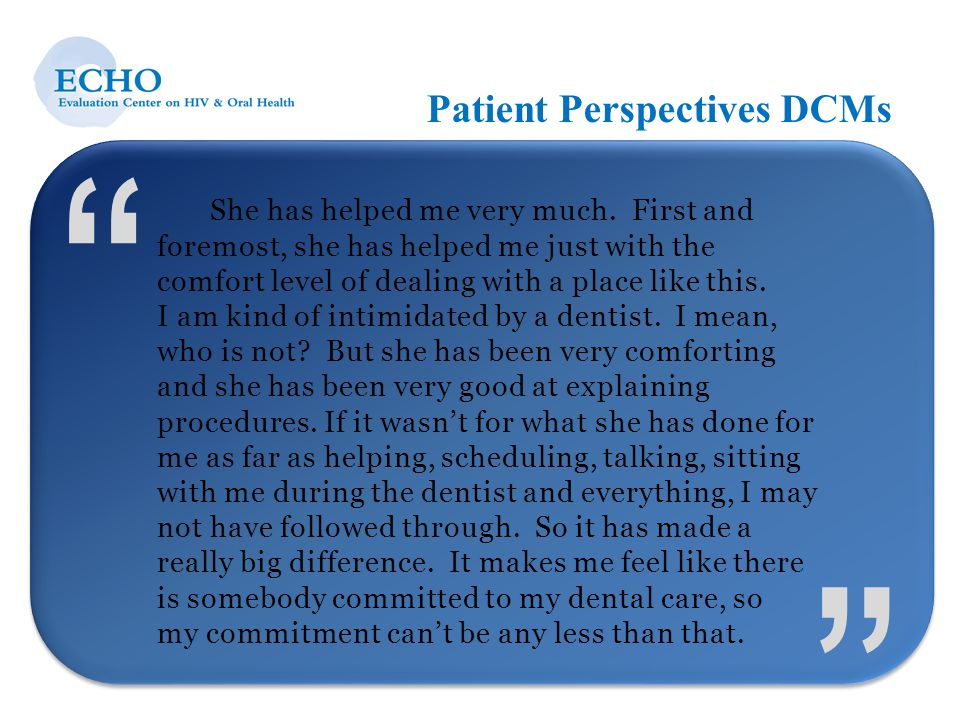 Patient Perspectives DCMs