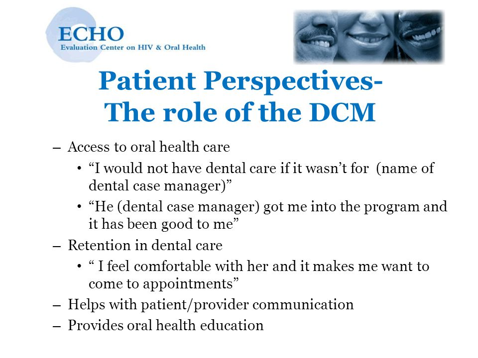 Patient Perspectives- The role of the DCM