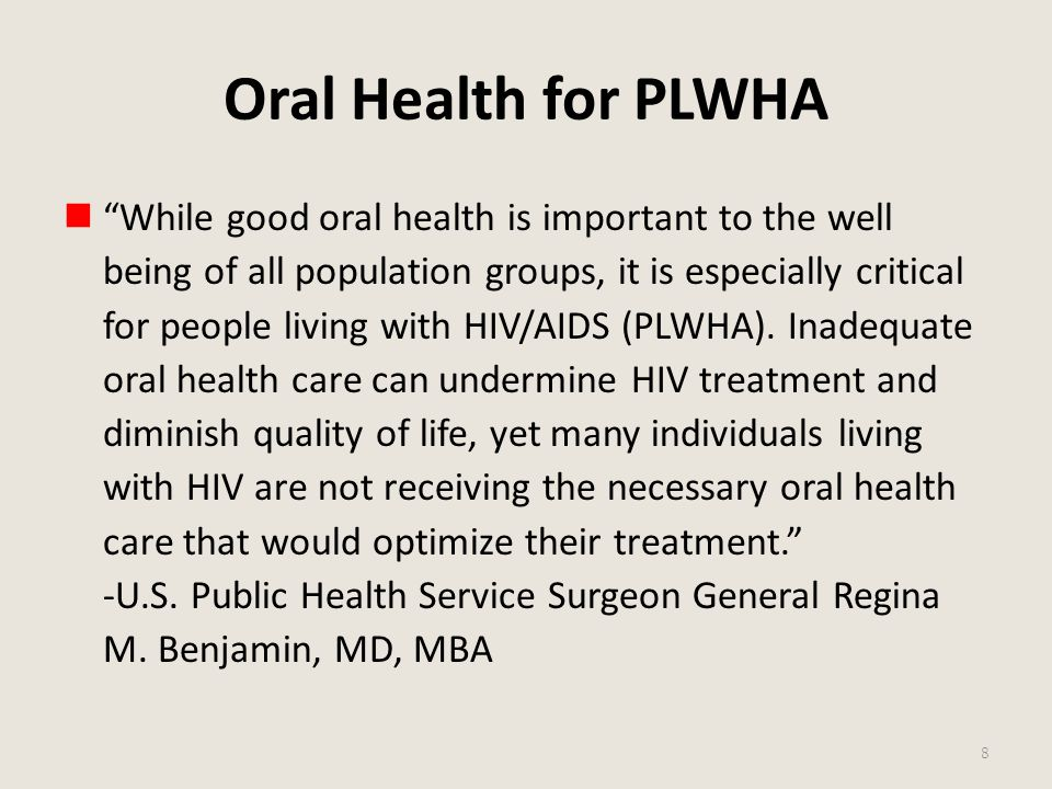 Oral Health for PLWHA